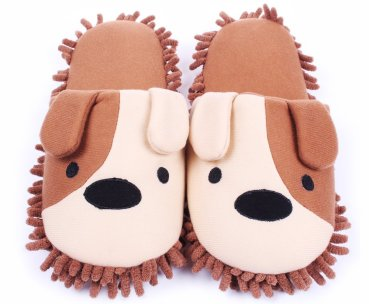 Plush Mop Slippers
